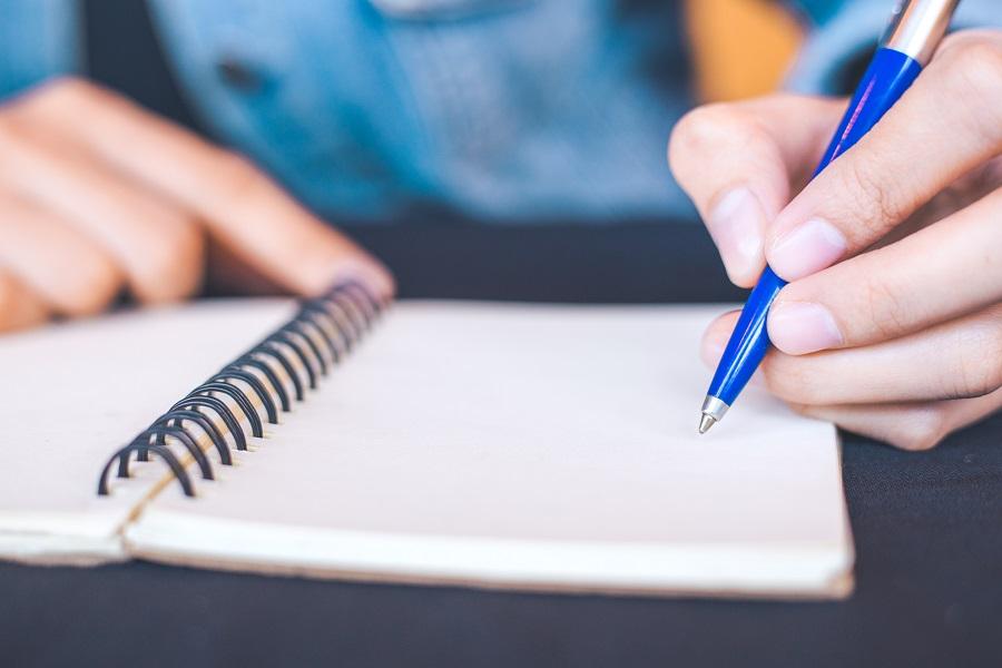 kako smanjiti stres na poslu, pisanje bilješki