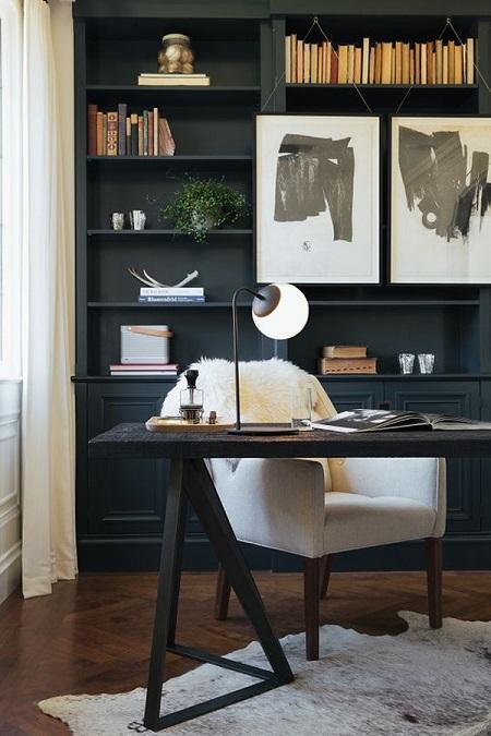 uređenje ureda kod kuće, minimalizam