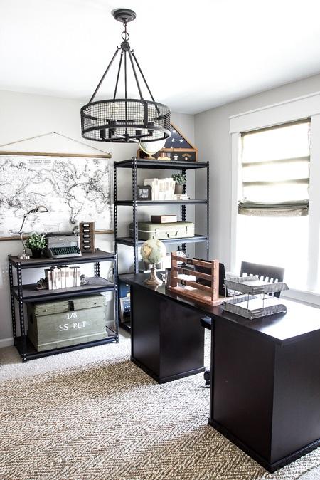ideje za uređenje kućnog ureda, veliki prostor