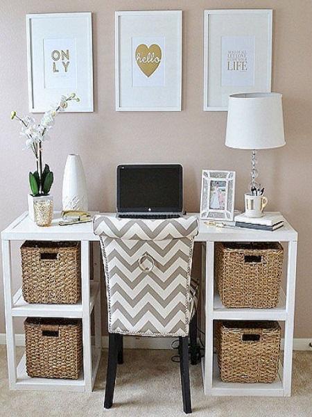 Kako urediti kućni ured, ženski stil