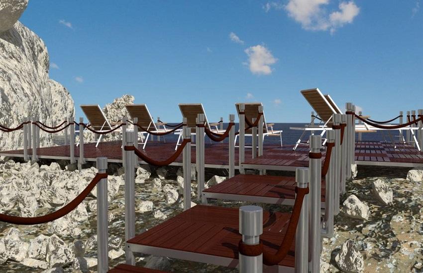Modularne montažne plaže, terase i staze