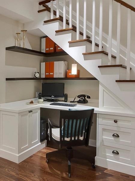 kućni ured, mali prostor