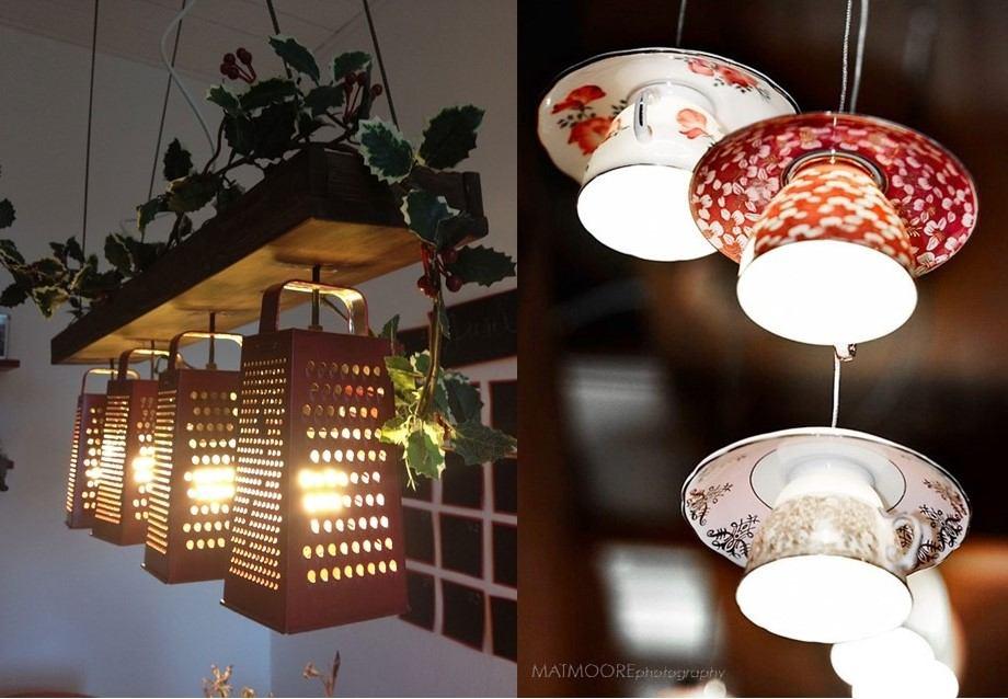 10 ideja za sjajne DIY lustere od svakodnevnih kućanskih predmeta