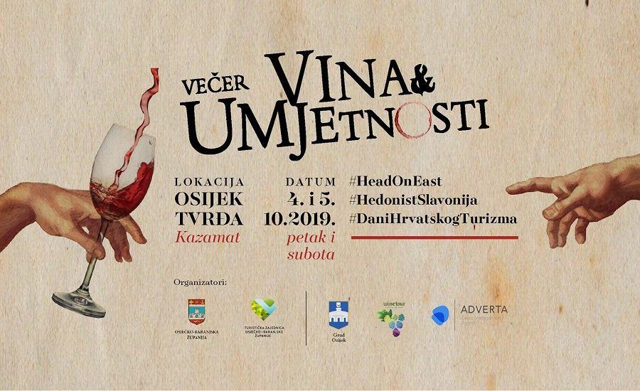 Večer vina & umjetnosti u Osijeku