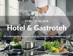 10. HOTEL&GASTROTEH održava se od 21. do 25. veljače 2018. na Zagrebačkom velesajmu