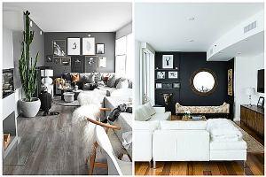 Ideje za uređenje: akcentirani crni zidovi u dnevnim sobama