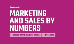 Prijavite se na konferenciju Marketing and Sales by Numbers