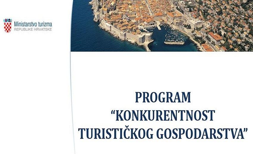 Javni poziv za kandidiranje projekata u sklopu programa Konkurentnost turističkog gospodarstva