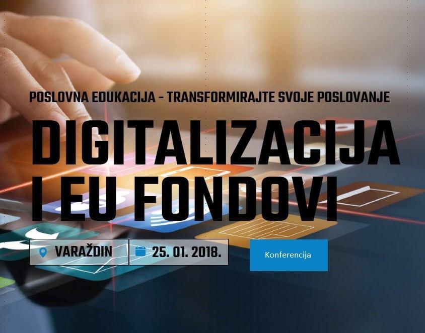 """Poslovna edukacija: """"Digitalizacija i EU fondovi"""" u Varaždinu"""