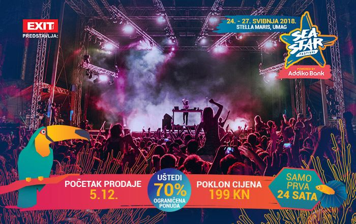 Sutra po ulaznice po 70% nižoj cijeni za Sea Star Festival 2018.